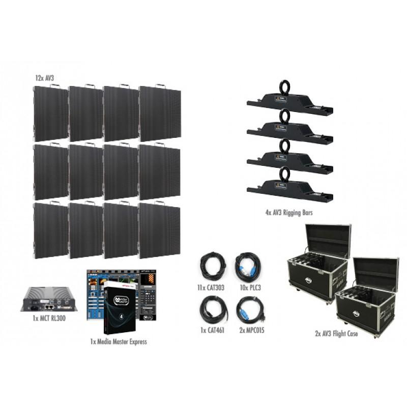 12 Panel 4x3 AV3 Video Wall Package