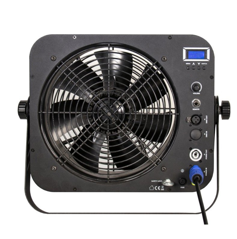 High Output DMX Controlled Fan with Variable Speeds