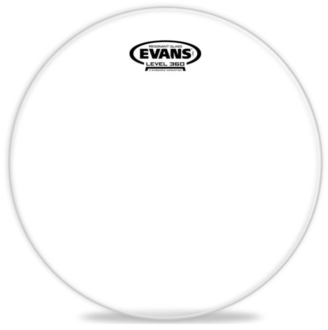 "12"" Resonant Glass Tom Drum Head"