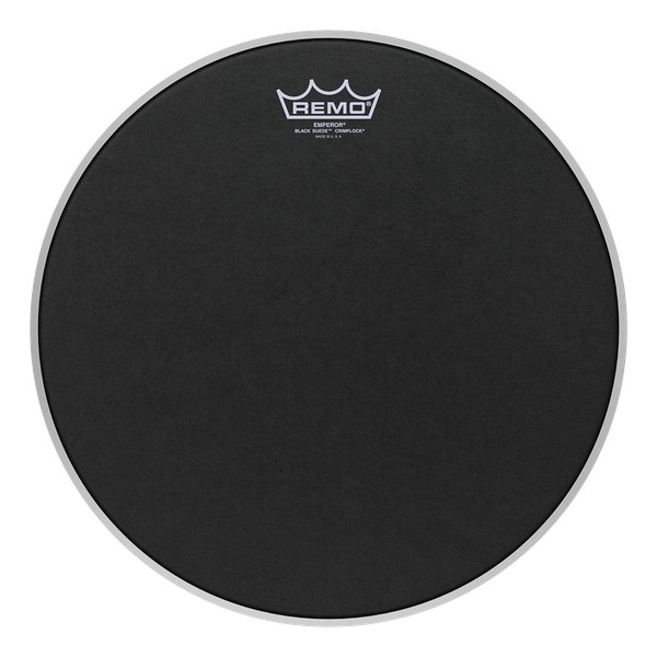"14"" Black Suede Emperor Batter Head for Marching Tenors"