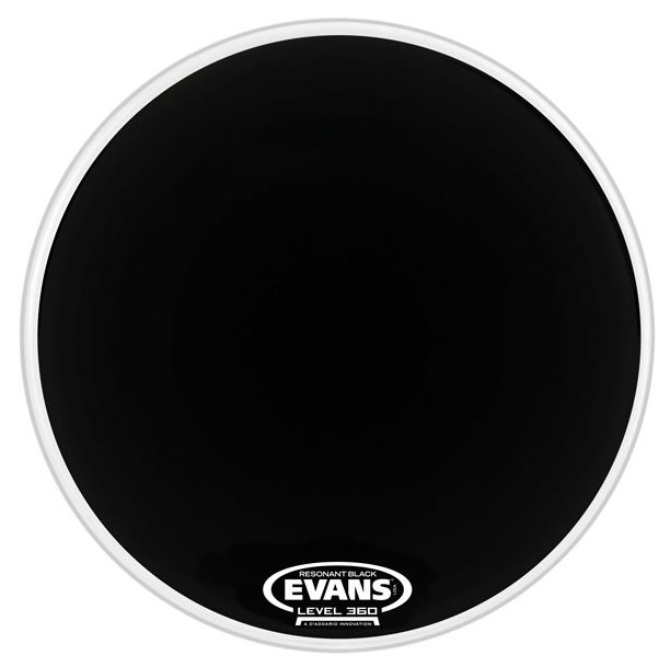 "22"" Resonant Bass Drum Head in Black"