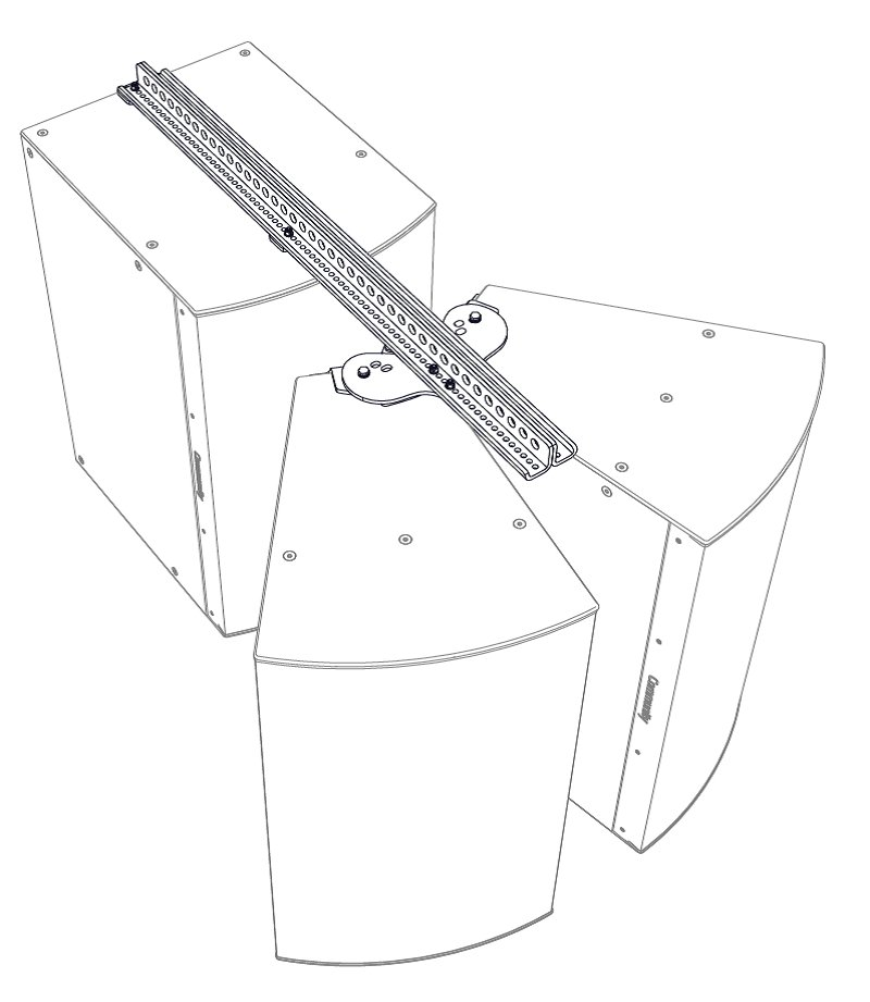 I SERIES Dual Horizontal Splay with Extension Kit for 3-Way Loudspeakers