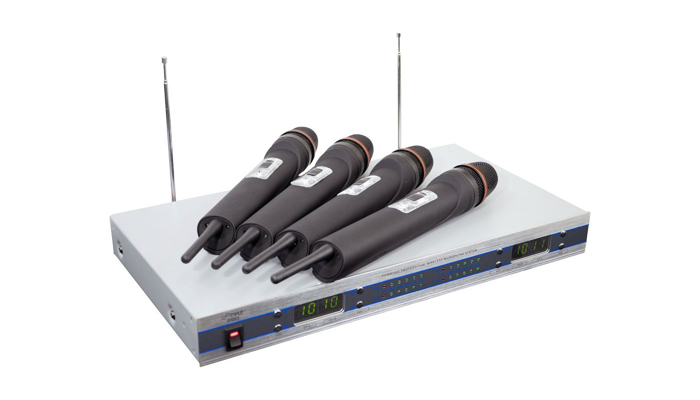 Rack-Mountable 4-Channel, 4-Microphone VHF Wireless System