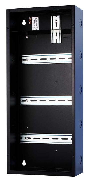 "10"" x 23"" x 4.5"" eDIN System Enclosure with Three 9"" Horizontal DIN Rails"