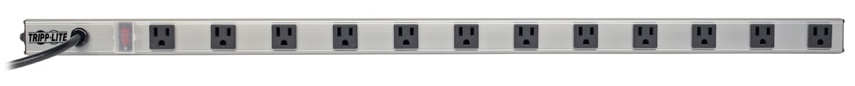 Tripp Lite PS3612RA  12 Right-Angle Outlet Vertical Power Strip, 120V, 15A PS3612RA