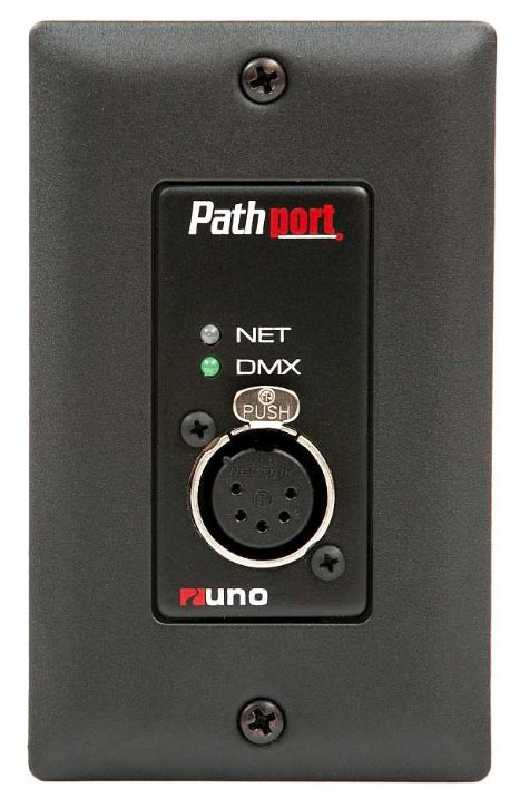 Pathport Uno Single Port 5-Pin DMX Feale Output Node With Cover