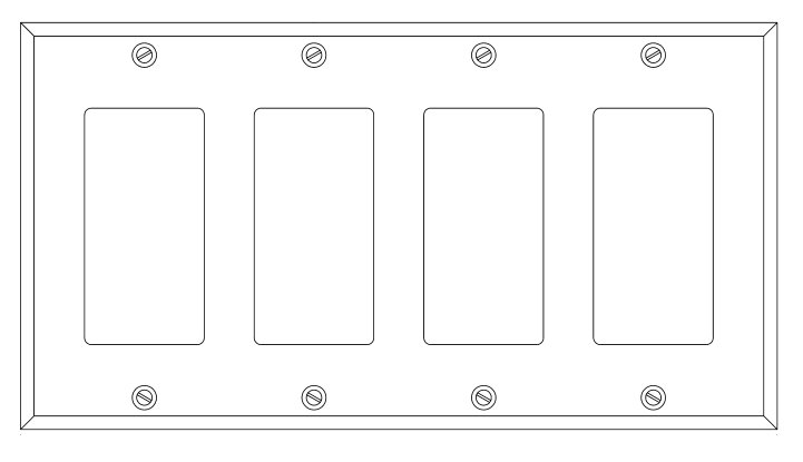 Four Gang Faceplate