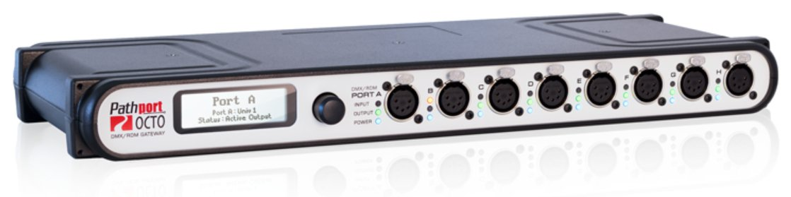 Pathport OCTO 8-Port Gateway with Front XLR 5-Pin Female Connectors