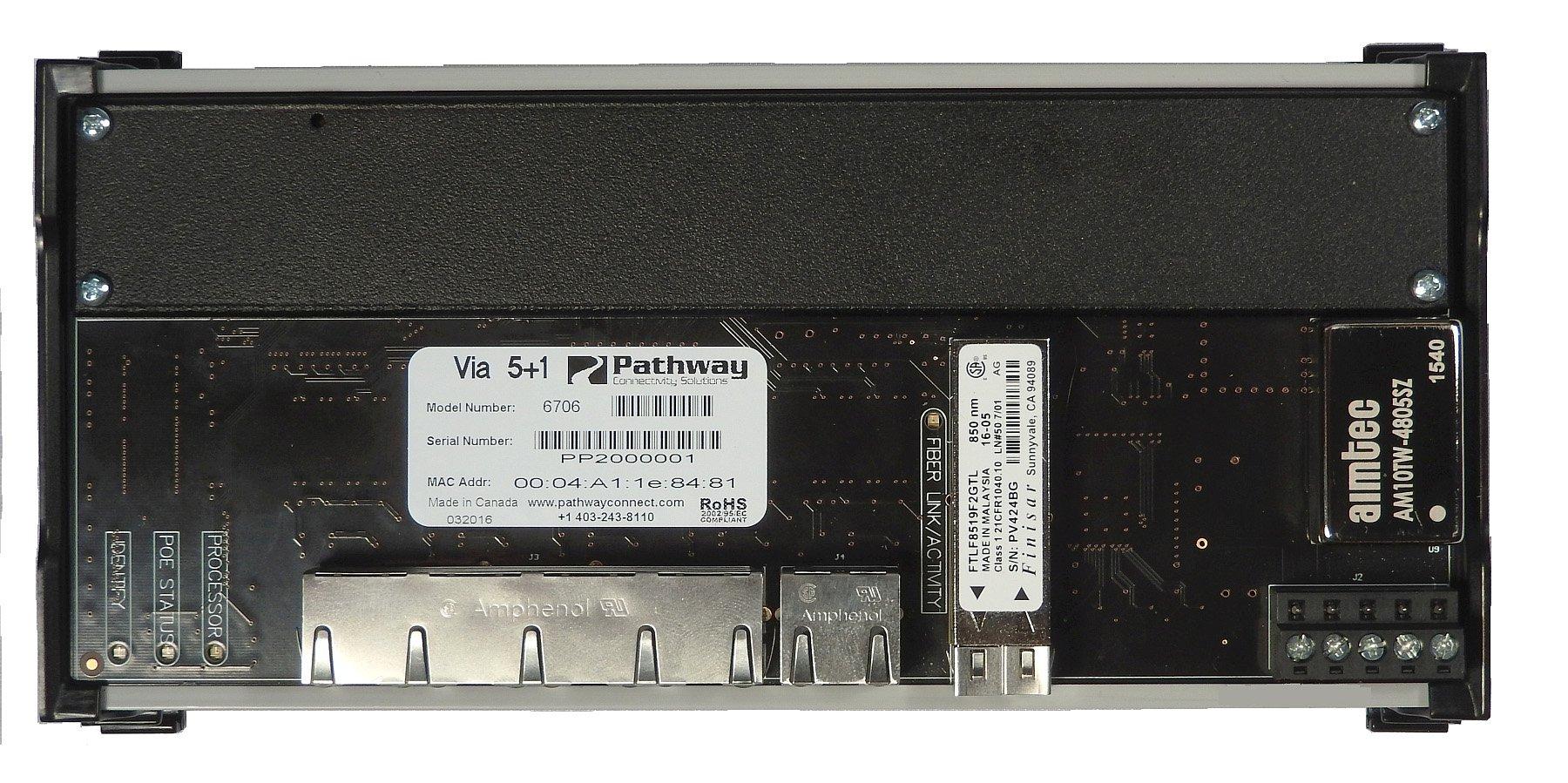 Pathport VIA 5 DIN-Mountable Gigabit Ethernet Switch - No Fiber