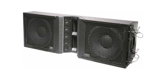 "Three-Way Tri-amp Speaker Array Enclosure with Dual 12"" Woofers"