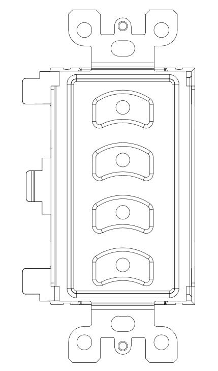 NSB - Four Button Slave Insert