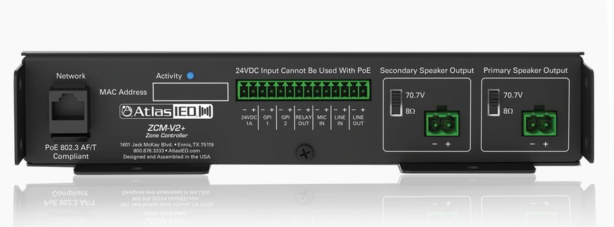 Dual Single Output PoE+ IP Addressable IP-to-Analog Gateways