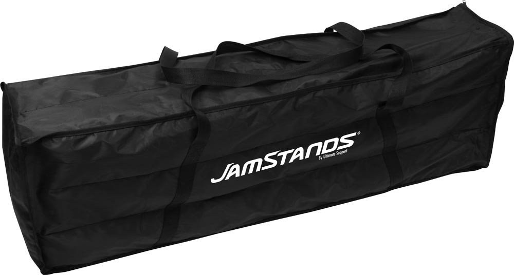 6-Pack of JamStands Series Tripod Microphone Boom Stands with Carrying Bag and Blue Accent Bands