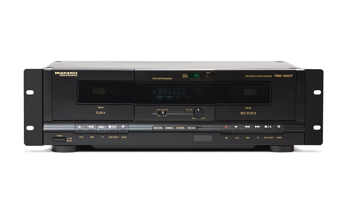 Dual Cassette Recorder/Player with USB, 3RU