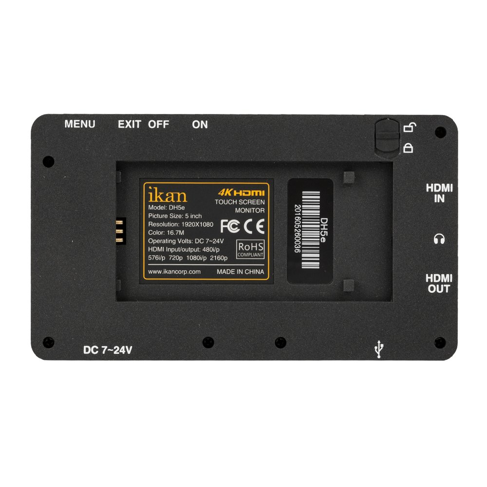 """5"""" 4K HDMI On-Camera Monitor Deluxe Kit"""