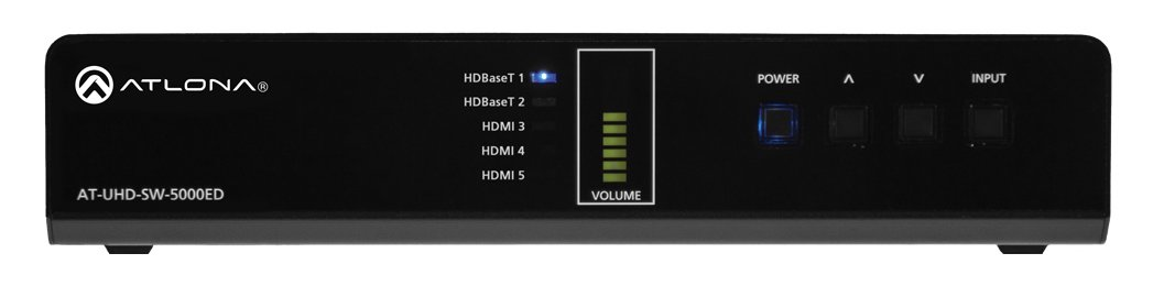 4K 5-Input HDMI Switch with 2x HDBaseT In & HDMI/HDBaseT Out