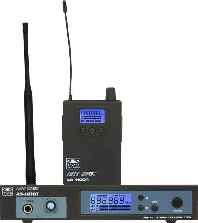UHF Wireless Personal Monitor (AS-1100 Model with EB6 Single-Driver Ear Buds)