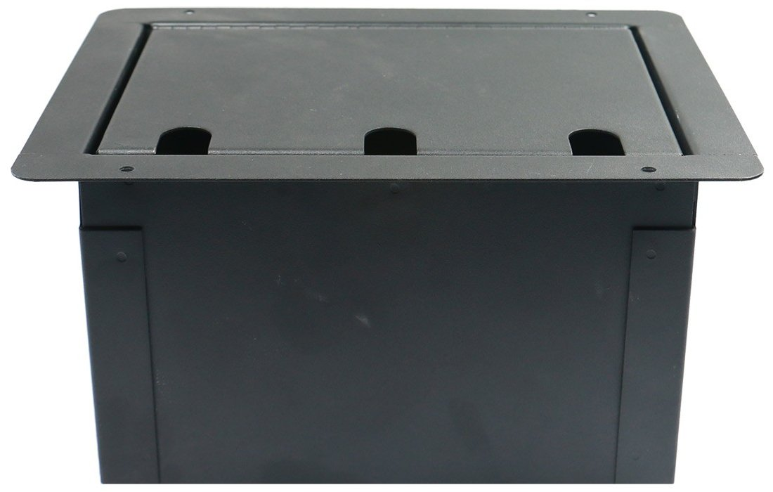 Large Recessed Floor Box with Blank Plate
