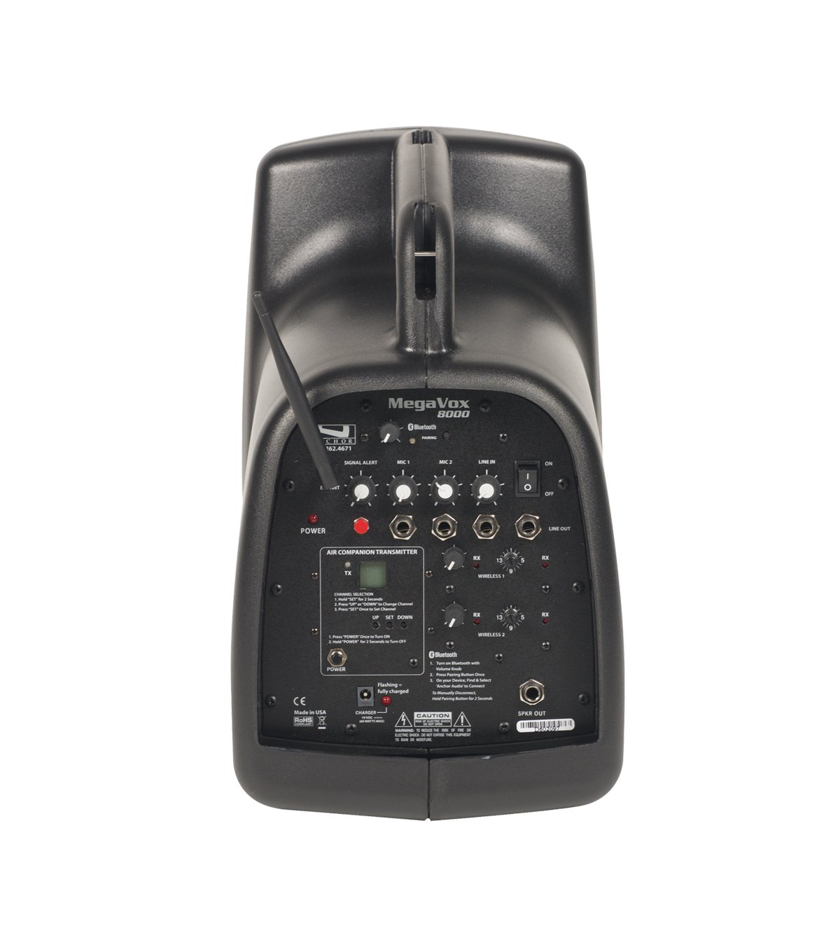 Megavox Basic Package with 16 RF Channels and Wireless HandHeld Microphone