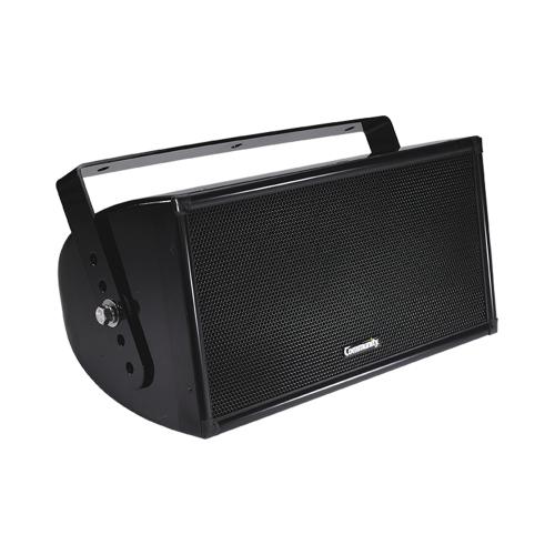 """Quasi 3-Way Full-Range Composite Indoor/Outdoor Loudspeaker in Black with 8"""" Woofer, 600W Program"""