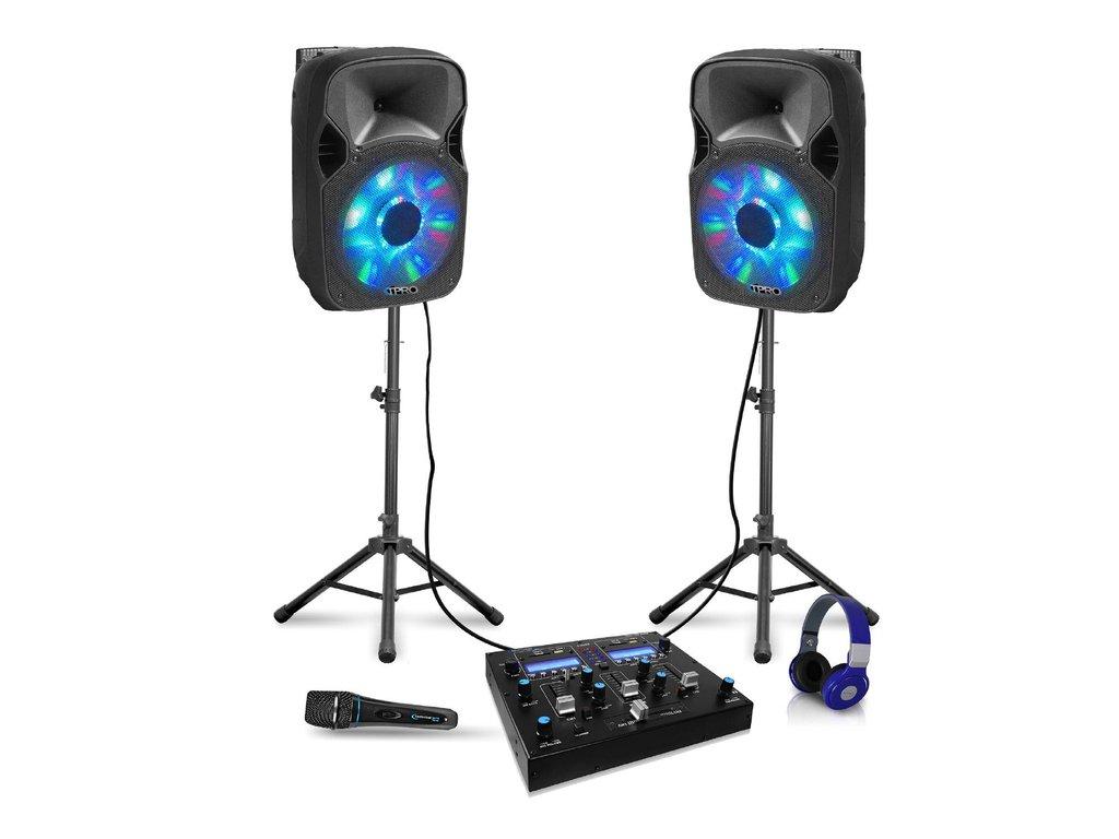 "Dual 12"" LED DJ Louspeaker Package"