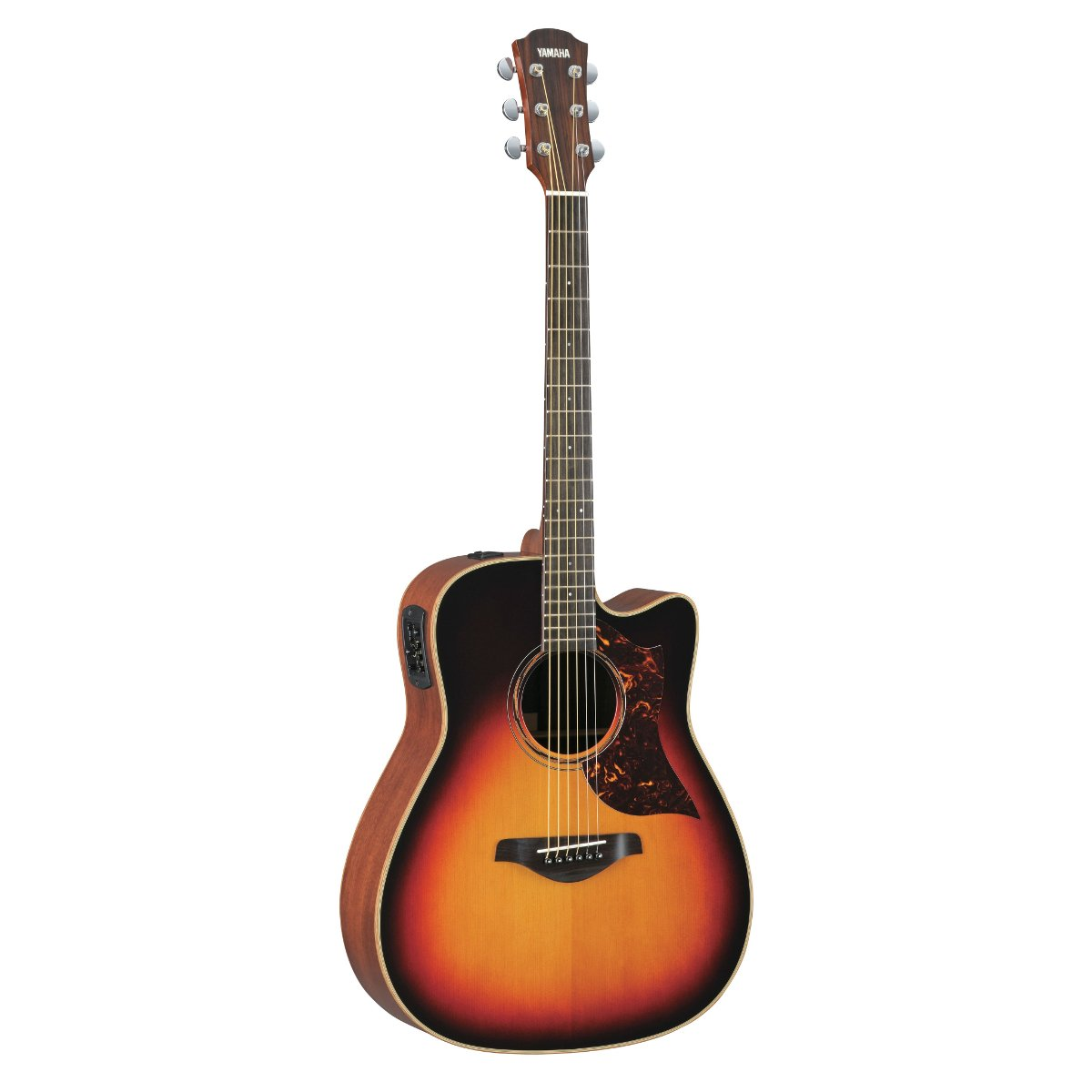 yamaha a3m tobacco sunburst cutaway acoustic electric guitar with hard bag full compass. Black Bedroom Furniture Sets. Home Design Ideas