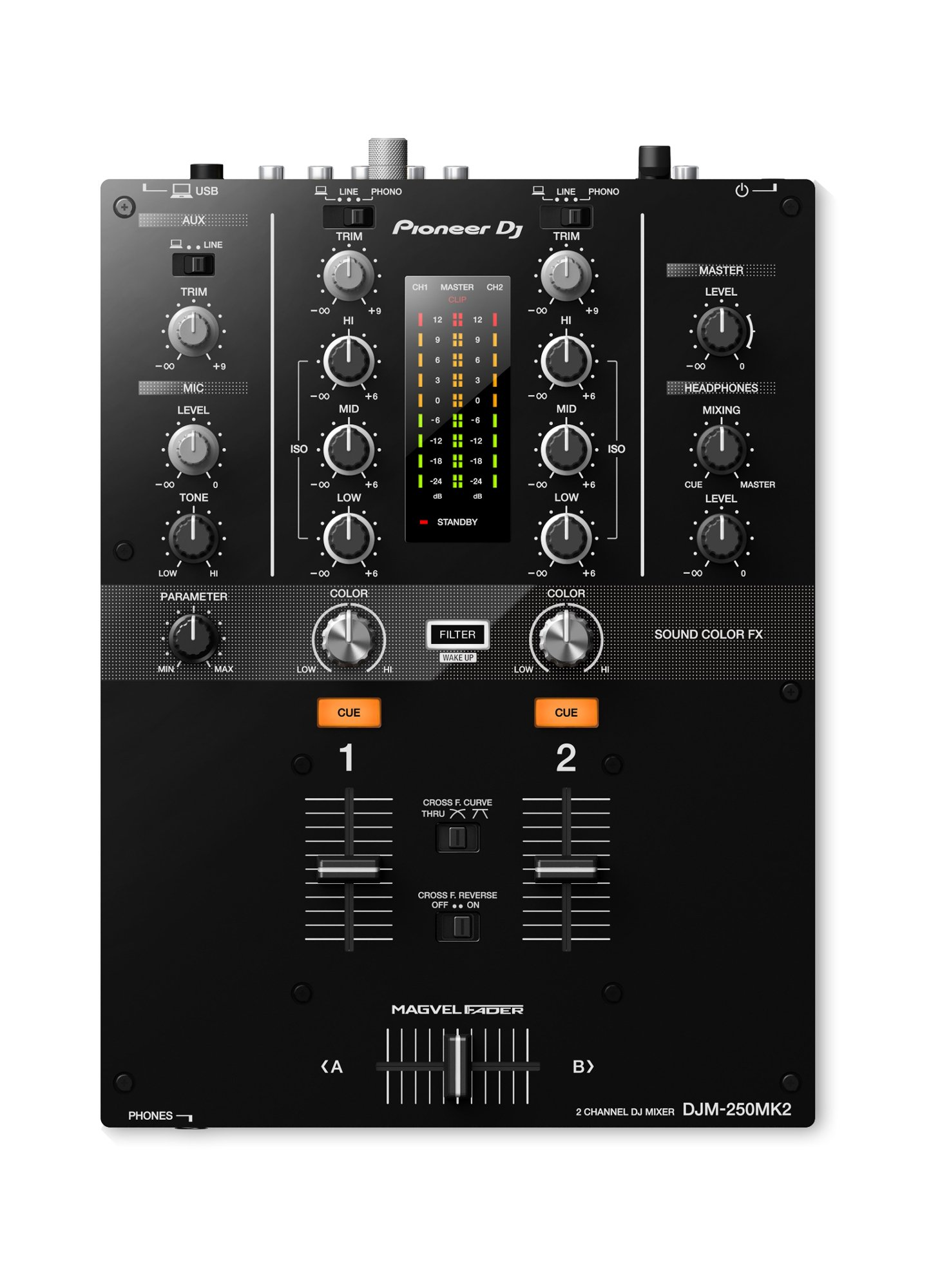 2-Channel DJ Mixer with Soundcard