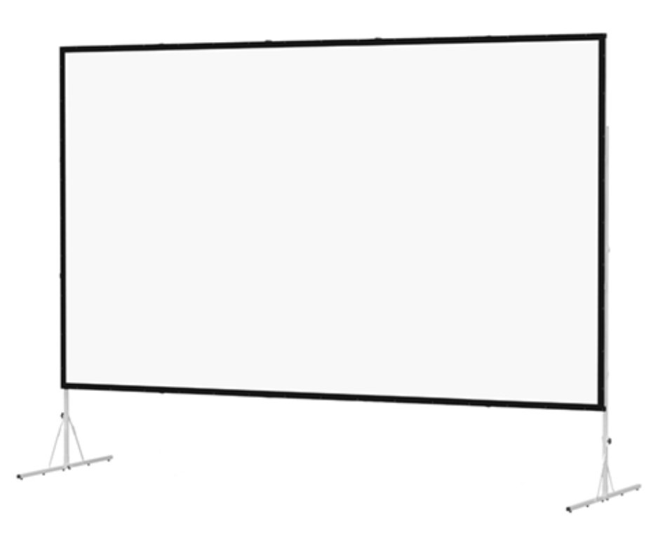 "79"" x 140"" Fast-Fold Deluxe Truss Frame Da-Mat Projection Screen"