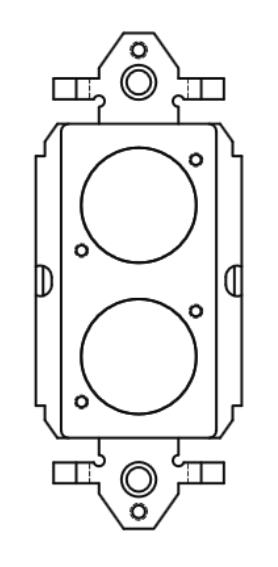 2 Neutrix D-Hole Plastic Decora Insert