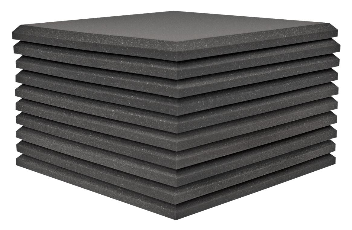 "10-Pack 2'x2'x1.5"" StudiofoamPro in Charcoal"