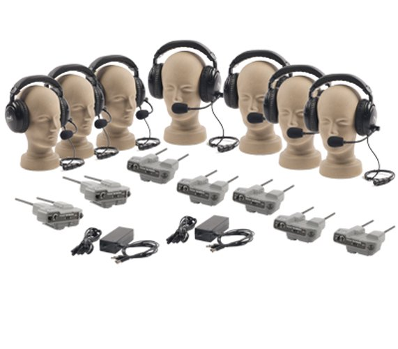 Pro-Link 500 Intercom system with 7 Headsets