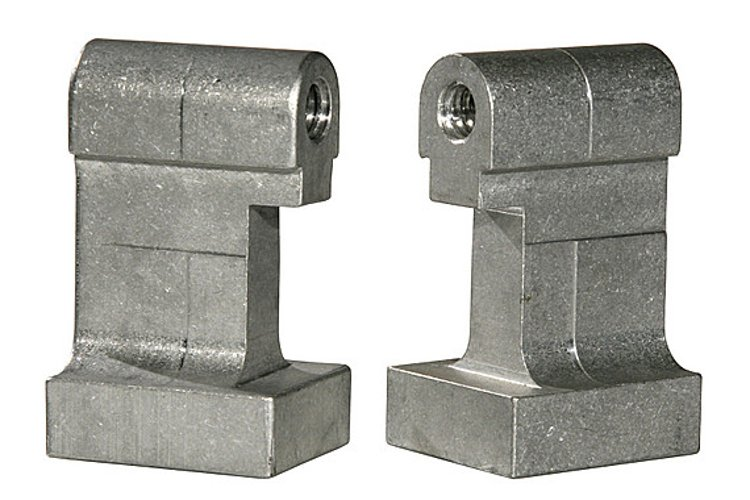 Mega-Beam Clamp 2 Inch Extended Jaws in Silver