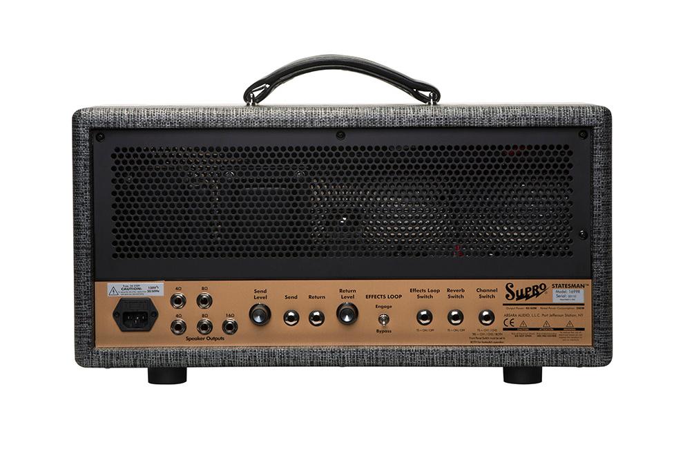 Supro 1699RH Statesman Head 2-Channel 50-watt Amplifier Head STATESMAN-HEAD