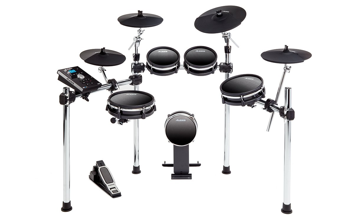 9-Piece Electronic Drum Kit with Mesh Heads