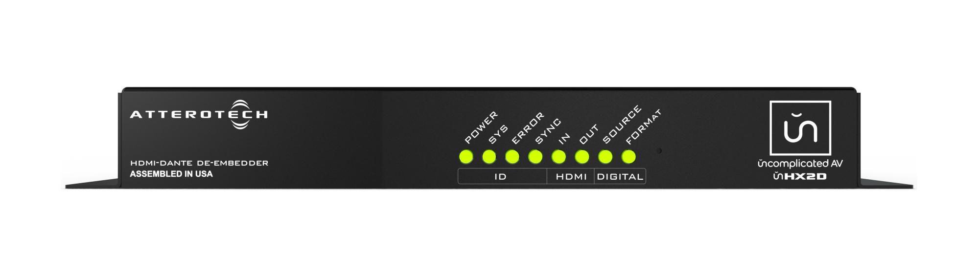 Dante-Enabled HDMI Audio De-Embedder/Embedder