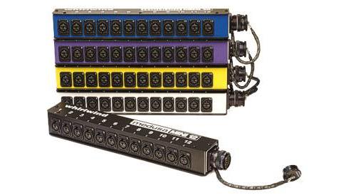 Whirlwind B12MNRW1CF  MINI-12 Subsnake Drop Box with Female Multipin Connector B12MNRW1CF