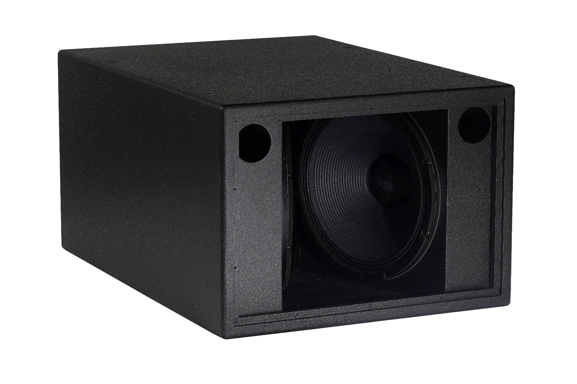 "Vented Dual 18"" Sub Bass Cones in a ""Clam Shell"" Configuration, 1400W at 4-Ohms, Black"