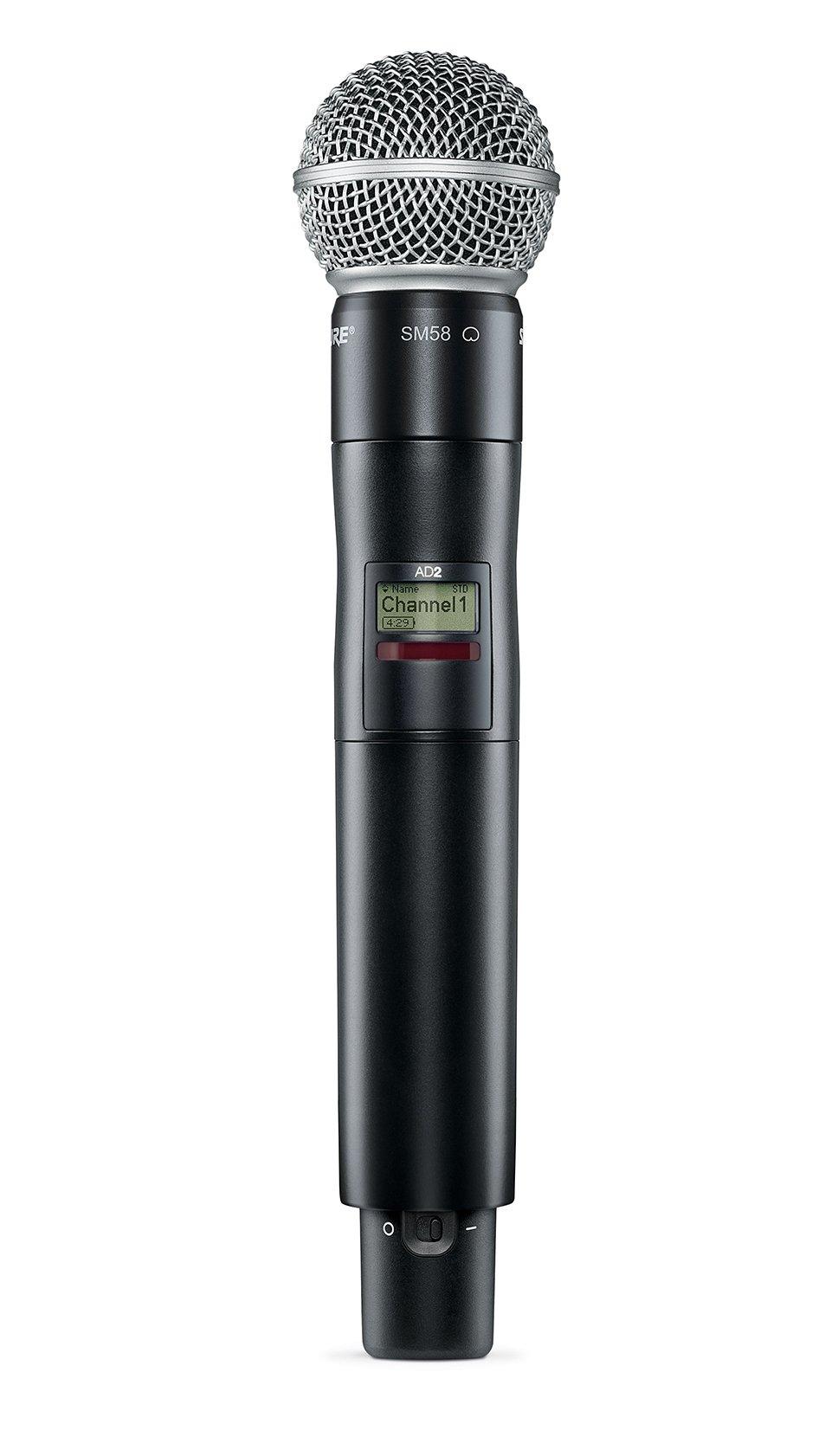 Shure AD2/SM58 Axient Digital Handheld Transmitter w/SM58 Capsule AD2/SM58