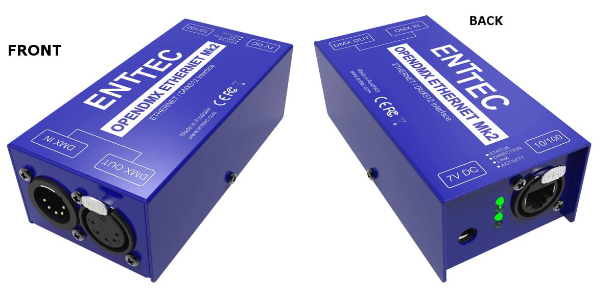 Open DMX Ethernet Gateway, MKII