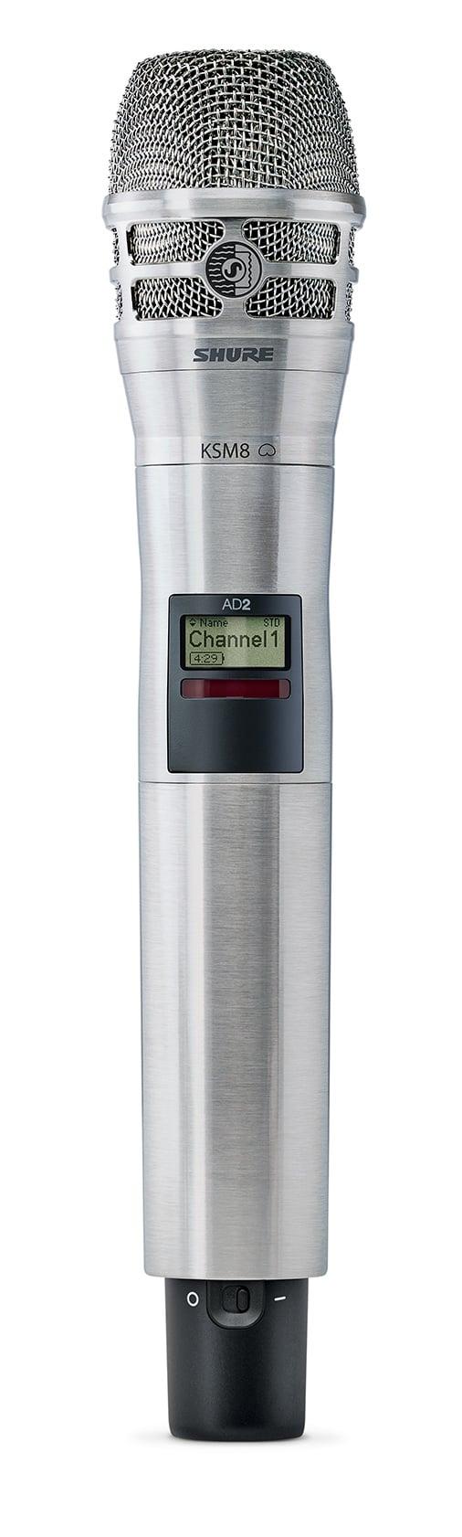 Axient Digital Handheld Transmitter KSM8 Capsule in Nicke