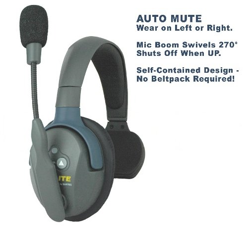 Eartec Co UltraLITE Single Master Headset with Rechargable Battery ULSM