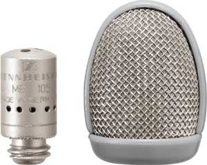 Microphone Capsule, Supercardioid, Black (Silver shown)