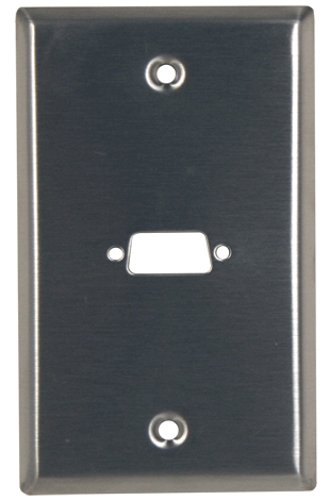 "Single Gang Stainless Steel Wallplate with (1) ""D"" Series Hole"