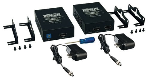 HDMI Over Cat5 / Cat6 Extender, Extended Range Transmitter and Receiver for Video and Audio - 1920x1200 1080p at 60Hz