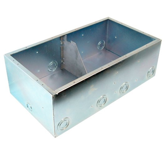 AC Isolated Double Wide Back Box, with Isolation Bracket