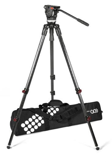 Tripod System with Ace XL Fluid Head, TT 75/2 CF Tripod, Padded Bag