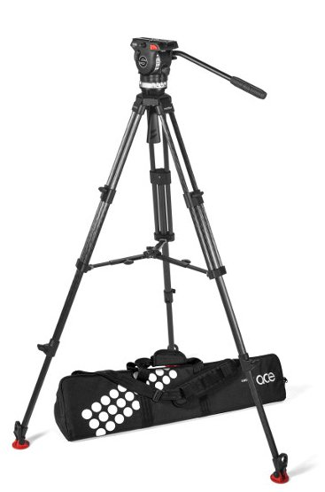 Tripod System with Ace XL Fluid Head, Ace 75/2 CF Tripod, Ace Mid-Level Spreader, Padded Bag