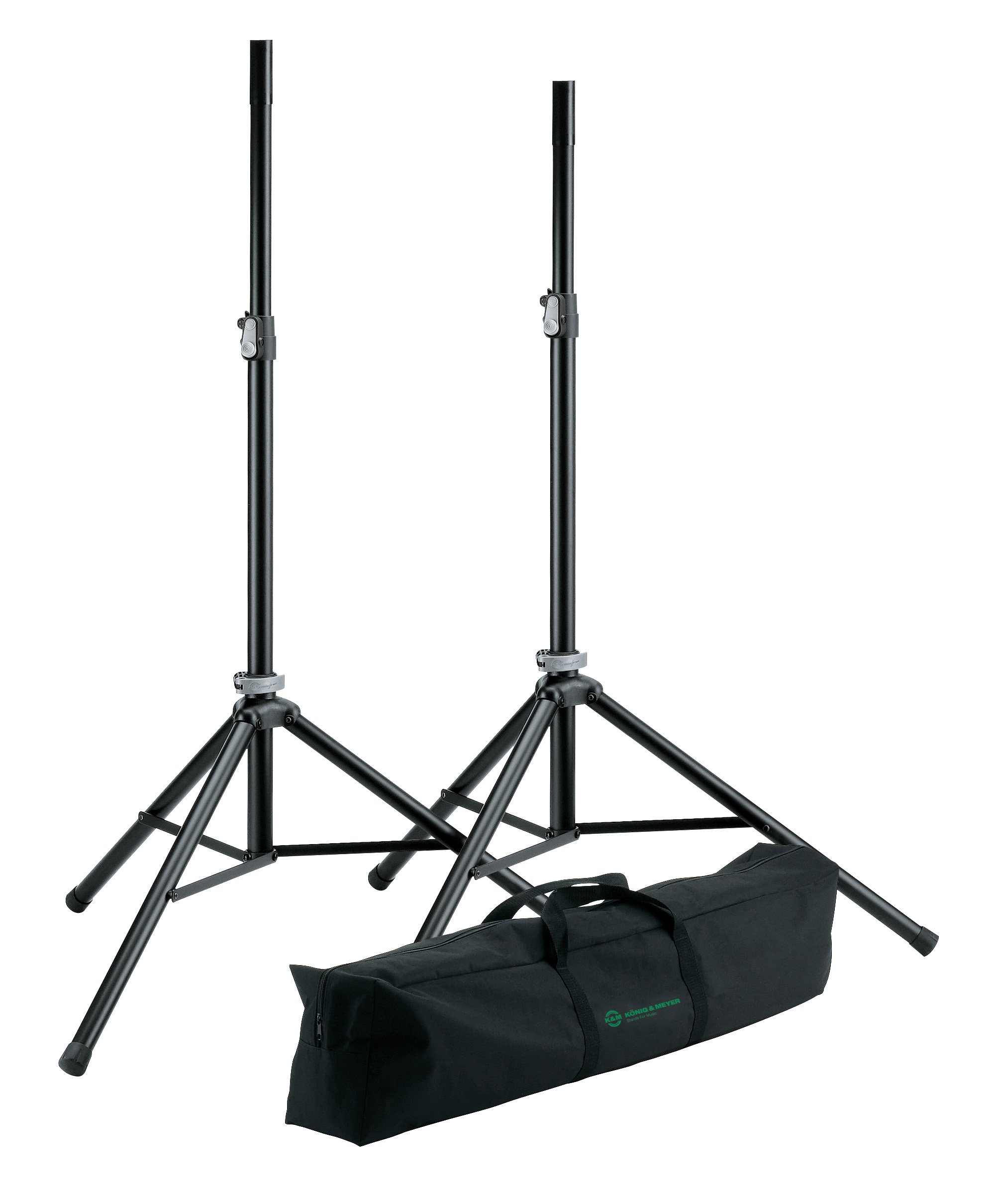 K&M Stands 21449  Speaker Stand Package with Bag 21449