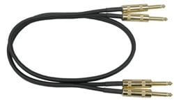 """Audio Cable, Unbalanced Dual 1/4"""" Male to Dual 1/4"""" Male, Gold-Plated, 10 Feet"""