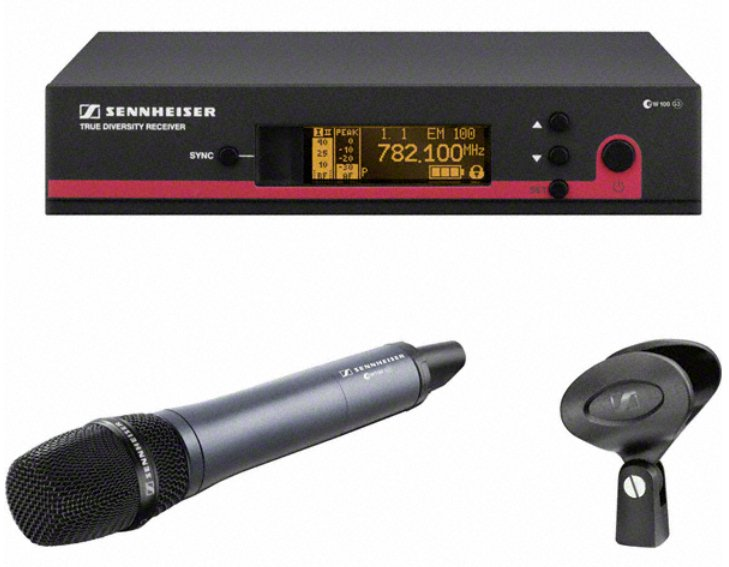 Wireless Handheld Microphone System with the e845 Transmitter